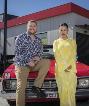 Snackmasters hosts Scott Pickett and Poh Ling Yeow.