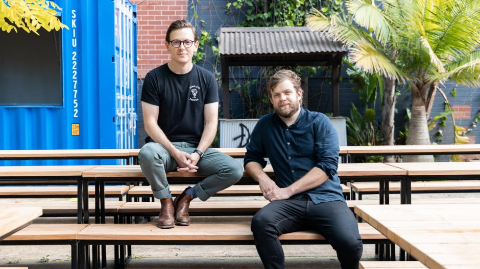Merivale's Sam Egerton and Kevin Peters at Backyard at The Alex.