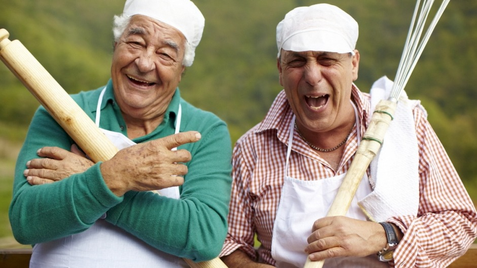 <i>Two Greedy Italians</i> stars Antonio Carluccio and Gennaro Contaldo.